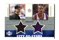 2003 UD City All-Stars Arizona #RJ/SM-C Randy Johnson/Marbury Jersey jh12