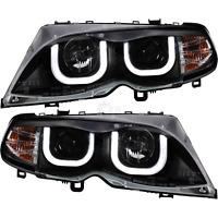 Scheinwerfer Set 3D U LED Angel Eyes BMW 3er E46 Bj. 01-05 Limousine Touring