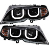 Scheinwerfer Set 3D U LED Angel Eyes für BMW 3er E46 Bj. 01-05 Limousine Touring