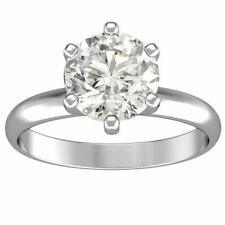 1.75ct ROUND CUT solitaire diamond engagement Ring 14k WHITE GOLD H COLOR VS2