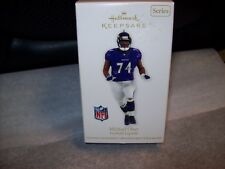 2012 Hallmark KEEPSAKE Ornament NFL FOOTBALL MICHAEL OHER NEW IN BOX WITH STAINS