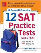 McGraw-Hill Education 12 SAT Practice Tests with PSAT, 3rd Edition-ExLibrary