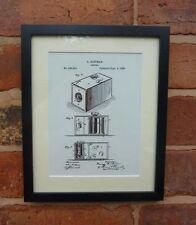 """USA Patent EASTMAN KODAK BOX CAMERA Mounted Matted PRINT 10"""" x 8"""" 1888 Gift Xmas"""