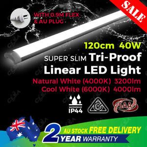 40W 4FT 1200MM LED BATTEN LIGHT SLIM IP44 REPLACE T8 FLUORESCENT TUBE FITTING