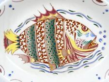 "Vtg Mid-Century de SPHINX Maastricht Holland 12 ¼"" Fish Plate / Wall Hanger 50's"