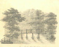 1828 Graphite Drawing - View in Horbury Park, Twickenham