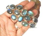 LABRADORITE   Sterling  Silver  925  Gemstone  Bracelet  -  Boxed