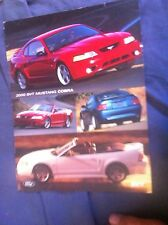 2000 Ford Mustang Cobra SVT Color Brochure Prospekt