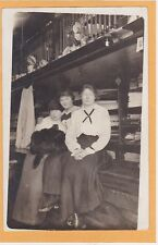 Real Photo Postcard RPPC- Affectionate Women at Dry Goods Store Lesbian Interest