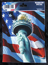 Patriotic USA Statue of Liberty Torch Vinyl Weather Resistant Car Window Decal