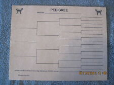 Chinese Crested Ii Blank Pedigree Sheets Pack 10 dog canine