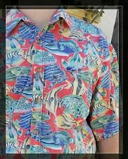 2XL Mens Cooke Street Honolulu Reverse Print Shirt 100% Cotton Ocean Fish