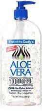 Fruit Of The Earth Aloe Vera 100 Gel Crystal Clear 24 Oz 680-Gram