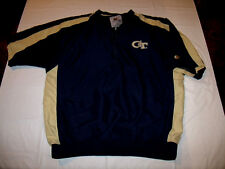Georgia Tech Yellow Jackets Lined Pullover Short Sleeve Jacket Large Colosseum