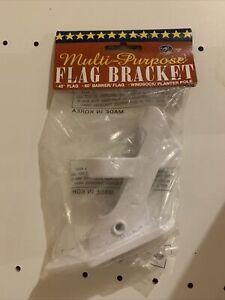 Multi-Purpose Flag Bracket 45 & 80 Degree Banner/Flag Pole Windsock/Planter Pole
