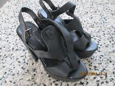 Atmosphere - Black, Buckle,Faux Leather,High Platform, Shoes  - Size 40