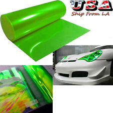 "12'' x 48"" Green Headlight Tail light Fog Lamp Cover Tint Film Vinyl Wrap Sheet"