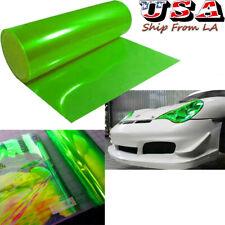 "12'' x 48"" Green Headlight Tail light Fog Lamp Cover Tint Film Vinyl Wrap Sheet"