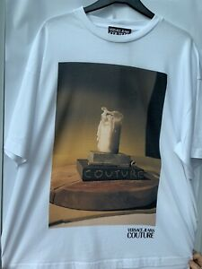 Versace Jeans Couture capsule collection candle print T Shirt size L