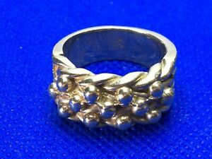 9 Ct Gold Heavy, Chunky Keeper Ring size V