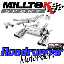 Milltek BMW M3 F80 Saloon Exhaust Cat Back RACE System Quad GT90 Polish SSXBM995