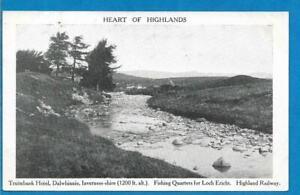 Printed Postcard - Highland Railway & Fishing -Tuimbank Hotel Dalwhinnie - c1900