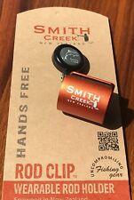 Smith Creek Rod Clip Hands Free Fly Rod Holder New Zealand Made Burnt Orange
