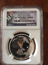 2013 P 50c Australia Bush Baby Possum NGC PF70 UC ER  1/2 oz Fine Silver