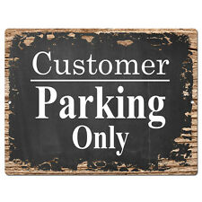 PP4198 Customer parking Plate Sign Bar Store Shop Pub Cafe Home Interior Decor