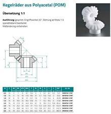 Kegelzahnrad / Kegelzahnradsatz - Modul 1.0-16/16 - Kunststoff - Übersetzung 1:1