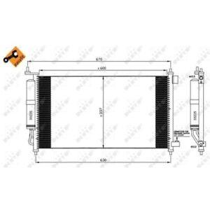 1 Condenseur, climatisation NRF 35583 EASY FIT convient à NISSAN RENAULT