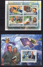 Sao Tome 2009 India Space Gandhi Kalam Rakesh Sharma Satellites stampsMnh*A2