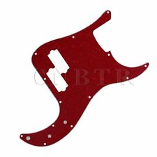 P Bass Parts 3Ply 13 Holes PVC Pickguard PB Bass Scratch Plate Red Pearl