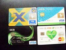 4 Bank card Lithuania VISA MasterCard SEB Vilniaus bankas chip electron cards