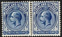 Falkland Islands 1921 deep-blue 2.5d indigo 2.5d multi-script CA mint SG76/76a