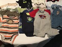 Lot of 16 Baby Infant Boy One Piece Outfits Jumper Romper Clothes Size 3 Months