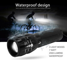 Bicycle Touch Light 7 Watt 2000 Lumens 3 Mode CREE Q5 LED