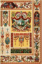 Décoration Style Rococo 18e siècle Architecture lithographie XIXème