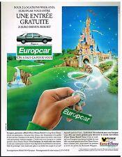 Publicité Advertising 1991 Location de voiture Europcar