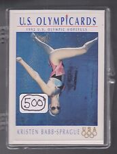 (500) 1992 US OLYMPIC HOPEFULS KRISTEN BABB-SPRAGUE CARDS #76 ~BIG LOT ~ SYNCHRO