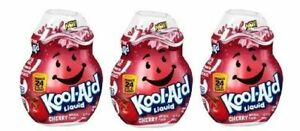 Kool-Aid Cherry Flavor Enhancer Liquid Drink Mix 3 Bottle Pack
