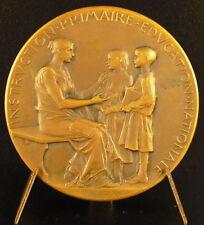 Médaille instruction primaire Roty à Henri Marcillet institure Paris 1902 medal