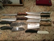 Lot Of 9 Knives Farberwar, Chef's Delight, Carvel Hall, Circulon, Gosh I