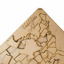 50 Piece American Puzzle Map - Art Kit - Raw Wood 12x18