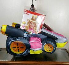 Princess Peach Halloween Costume with Wig Ride In Car Nintendo Super Mario Kart