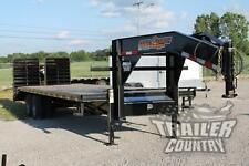 New 8 X 30 (25 + 5) Dual Tandem 10 Ton Deckover Equipment Gooseneck Trailer