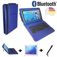 3in1 10 zoll Deutsche Bluetooth + Folie APPLE iPad Pro 9.7  Tasche Tastatur blau