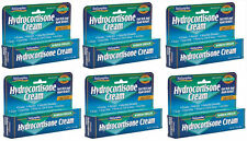 6 x HYDROCORTISONE CREAM Max. Strength 1%, Fast Itch/Rash Relief Natureplex 1oz