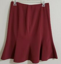 The Limited Skirt Size 2 Burgundy Polyester Blend Stretch Flare Business/Casual