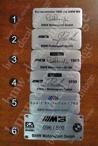 BMW E30 ///M3 DASH CENTER CONSOLE ALUMINIUM PLATE